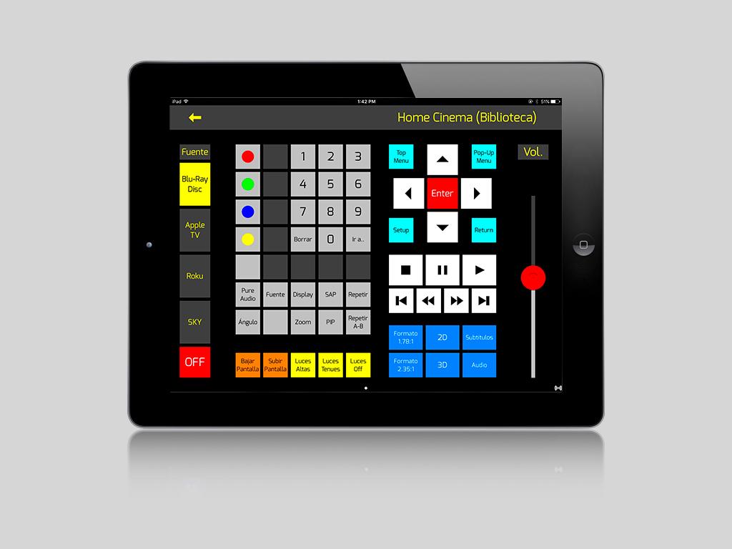 OnControls Esquema Hi-Fi 2L iPad