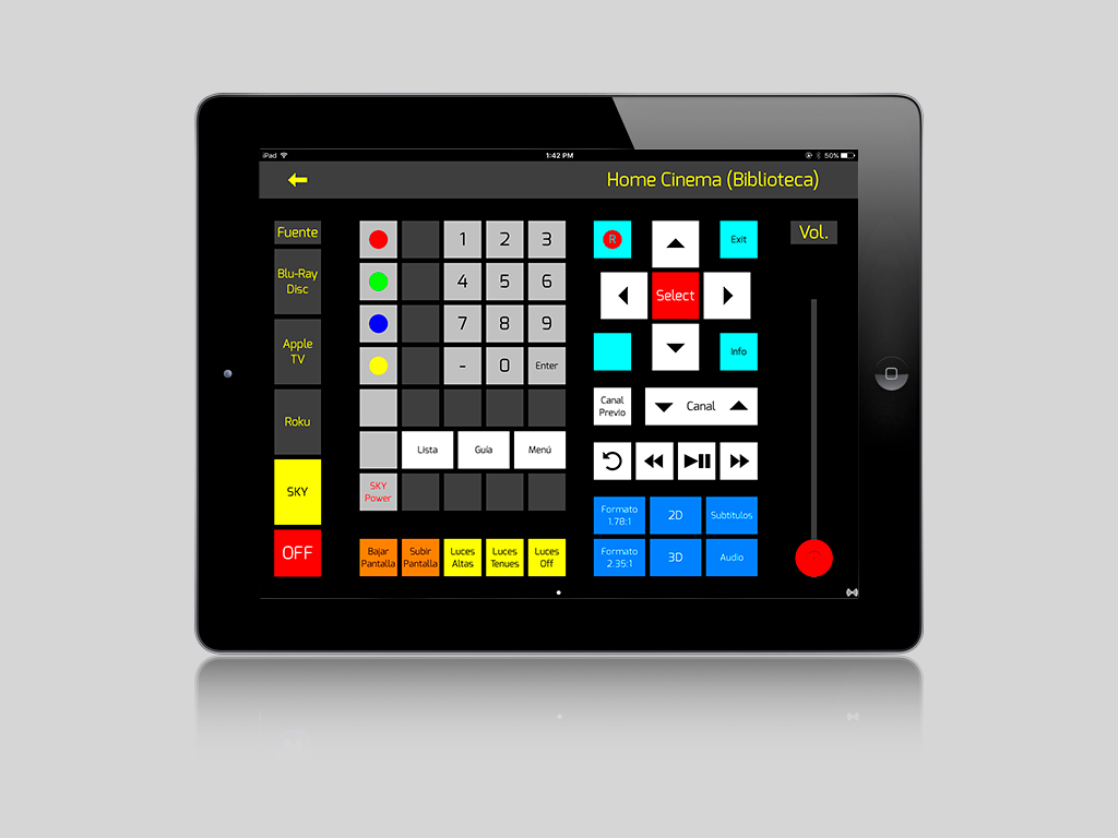 OnControls Esquema Hi-Fi 2L iPad